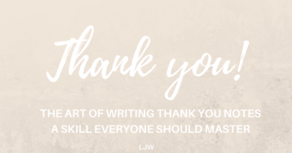 The Number 1 Reason Why You Should Write Thank You Notes