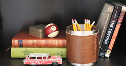 IKEA Hack: Leather Pencil Holder