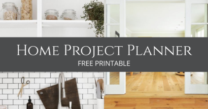 FREE Home Project Planner